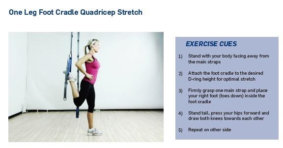 HT on leg quad stretch